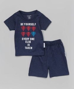 be yourself boys tee short set