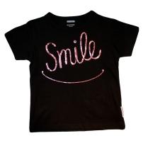 Smile tee black